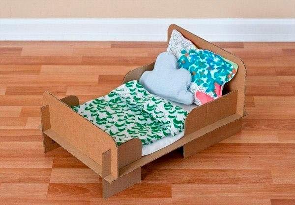 Как игрушечную сделать кровать