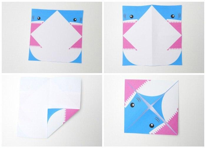 Поделки акула из бумаги 81