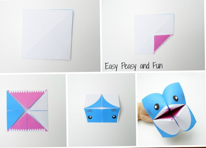 Поделки акула из бумаги 2