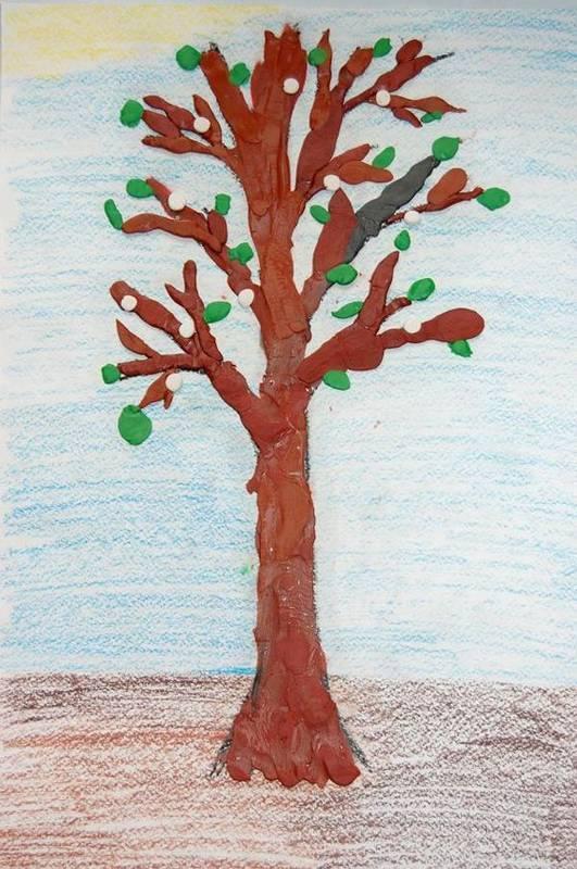 Поделки с детьми на тему деревья 78