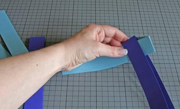 Как сделать из бумаги полоски 75