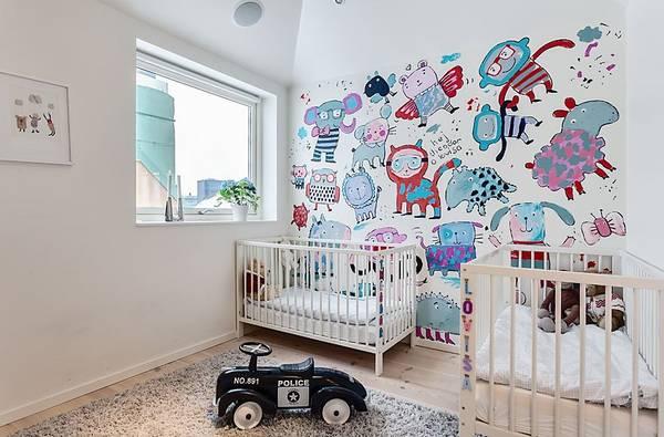 Разрисовать стену в детской