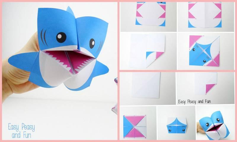 Поделки акула из бумаги 82