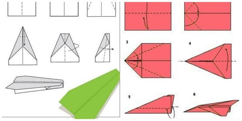 Как сделать самолётики разных видов