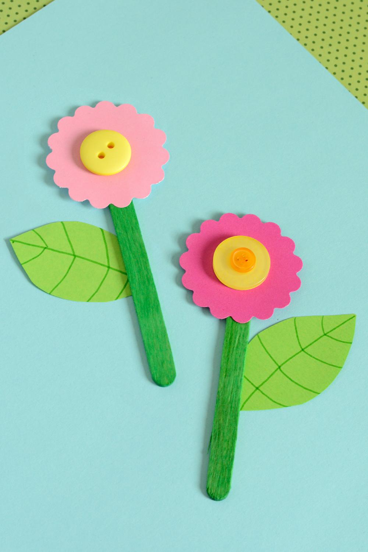 Открытка из цветной бумаги цветы