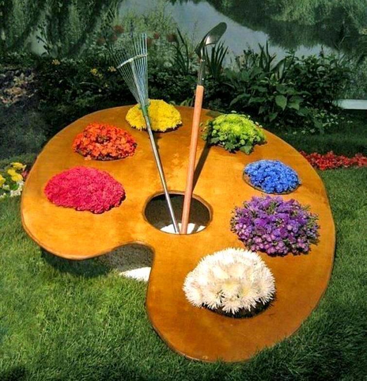 Креативные клумбы для цветов своими руками