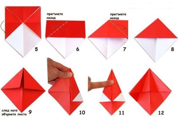 Грибы из цветной бумаги