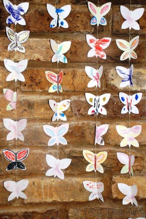 Бабочки для гирлянд своими руками 762