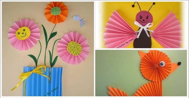 Поделки из цветной гофрированной бумаги для детей 23