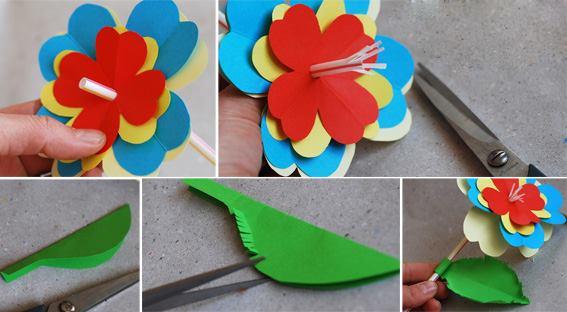 Как сделать цветок из бумаги для садика