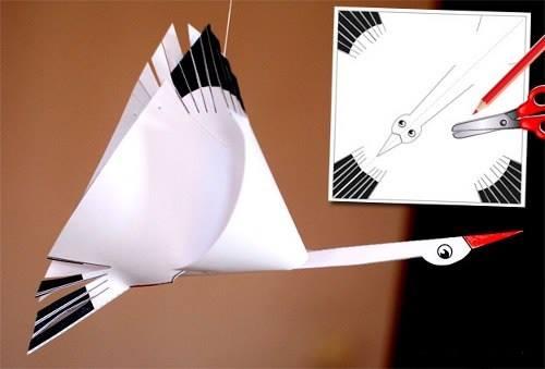 Изготовление журавля из бумаги своими руками 40