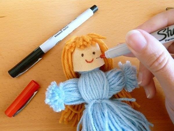 Поделки куколки из ниток
