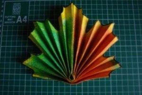 Как из бумаги сделать листочек из