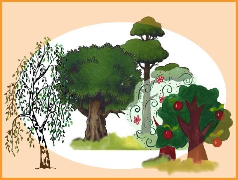 По тому как человек рисует дерево