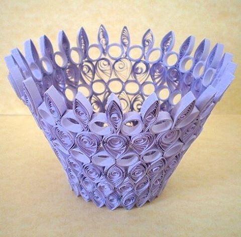 Поделка в виде вазы 45