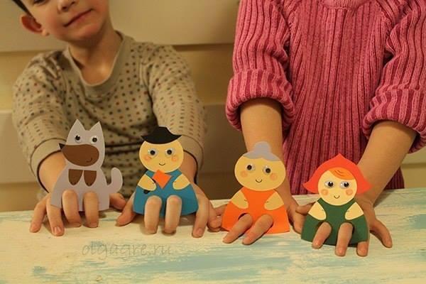 Как сделать пальчиковых кукол своими руками из ткани