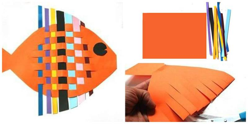 Рыба из цветной бумаги своими руками 42