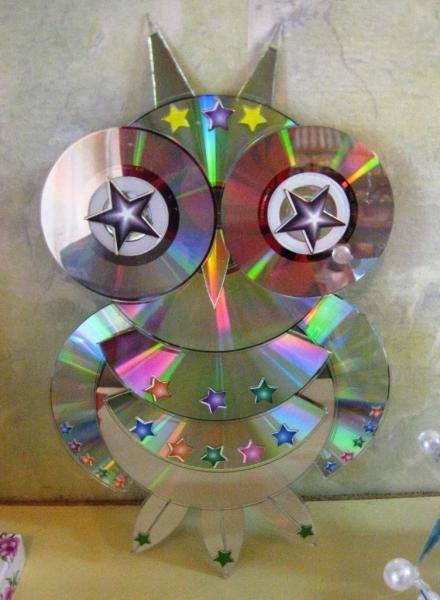Объемные поделки из дисков своими руками пошаговое
