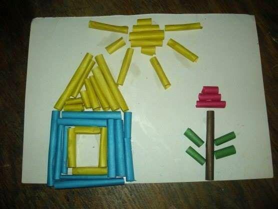 Поделка из бумажных трубочек с детьми