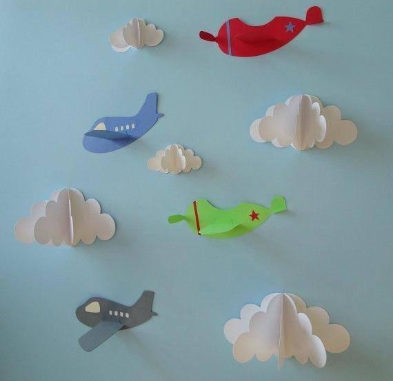 Объемные облака из бумаги