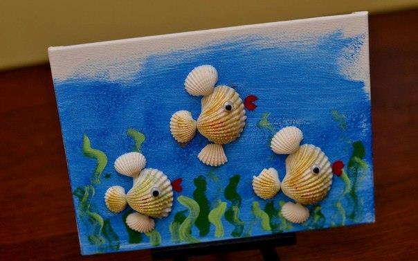 Поделки из ракушек для детей 6 лет своими руками 96