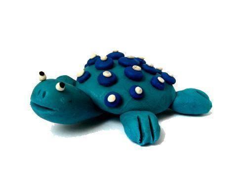 Черепаха пошагово из пластилина