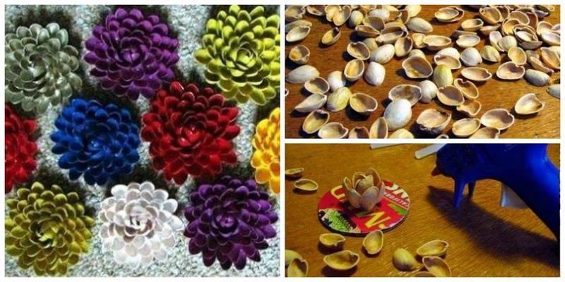 Цветы своими руками из фисташек 188