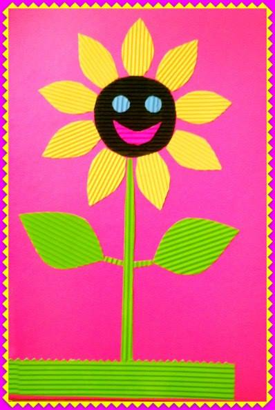 Поделки из цветной гофрированной бумаги для детей 36