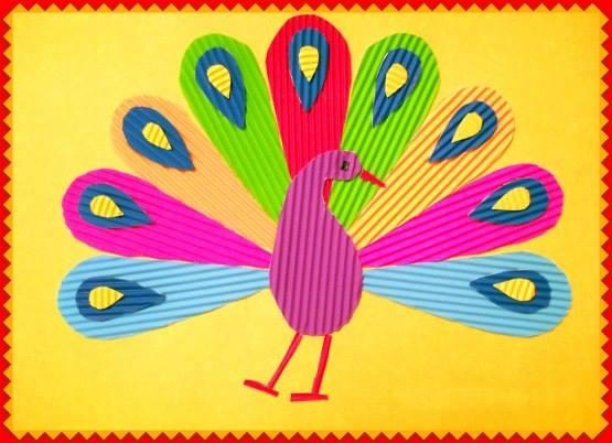 Поделка из картона цветного