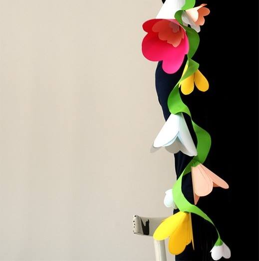 Гирлянда из цветов своими руками