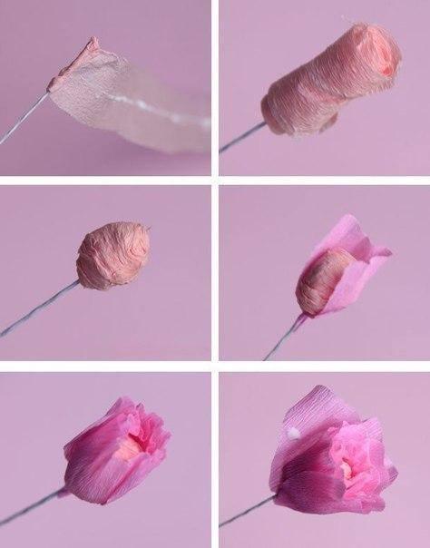 Как легко сделать цветы из гофрированной бумаги своими руками поэтапно для