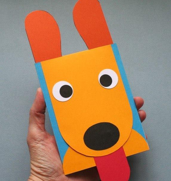 Как сделать собачку из картона своими руками