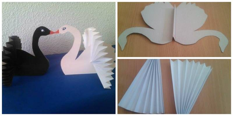 Бумажные поделки лебедь 47