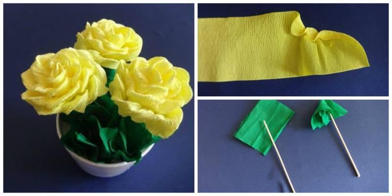 Тюльпан из салфеток своими руками 76