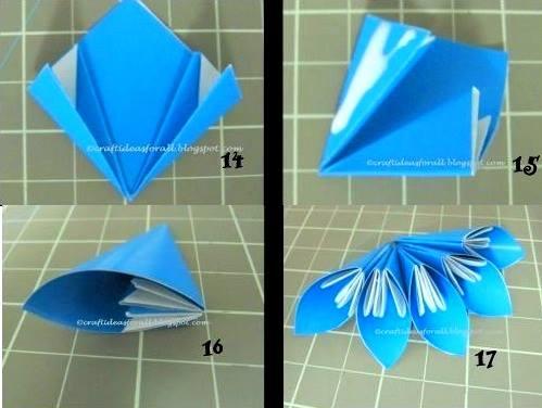 Поделки кусудама из цветной бумаги