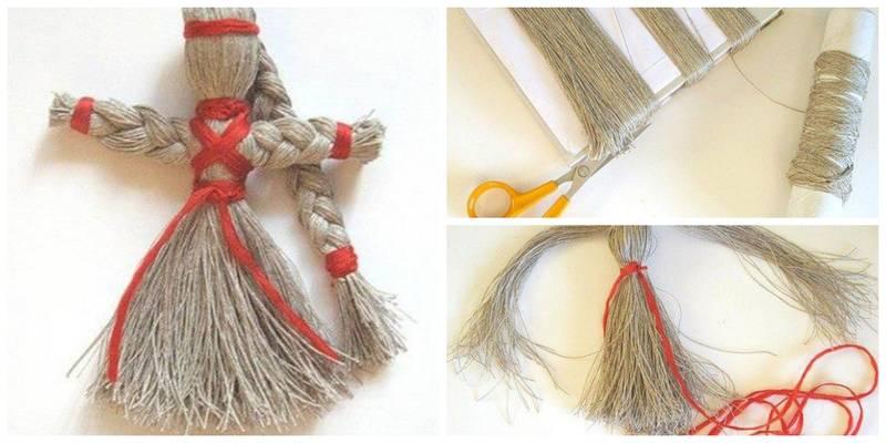 Как сделать из ниток мулине кукол