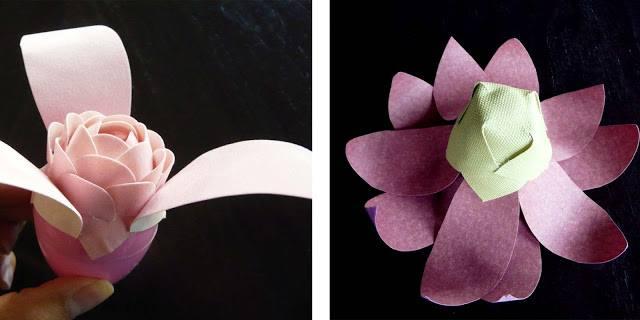 Как сделать из бархатной бумаги цветы