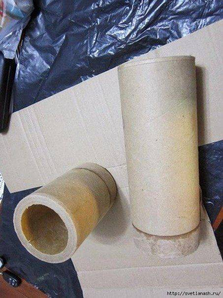 Господар вазна од картон и хартија цевки спирали 2