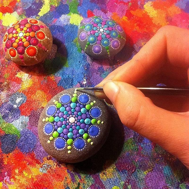 Как разрисовать камень своими руками 5