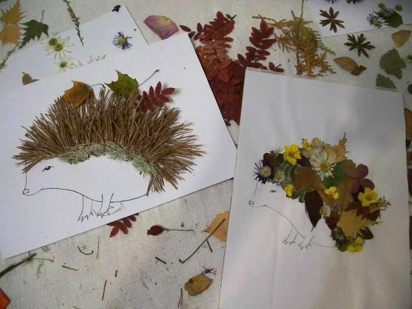 Поделки из листьев и из гербария 915