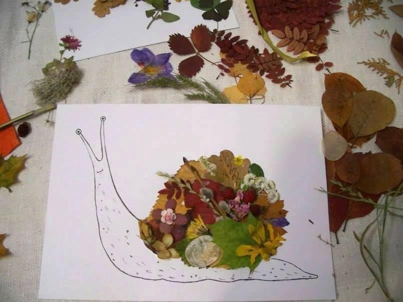 Поделки из листьев и из гербария 987