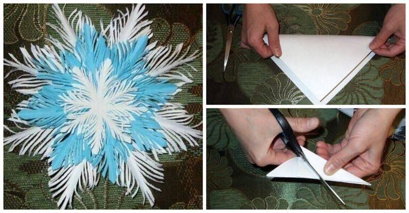 Как сделать из обычной бумаги снежинки