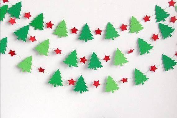 Новогоднее гирлянды своими руками из бумаги схемы