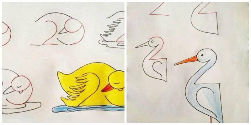 усадьбе рисунки из цифр для малышей открывается